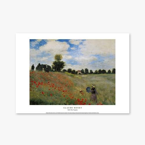 [명화포스터] Poppies - 클로드 모네 004