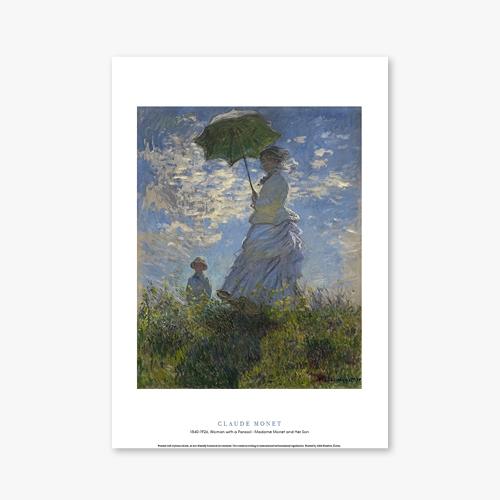 [명화포스터] Woman with a Parasol - Madame Monet and Her Son - 클로드 모네 005