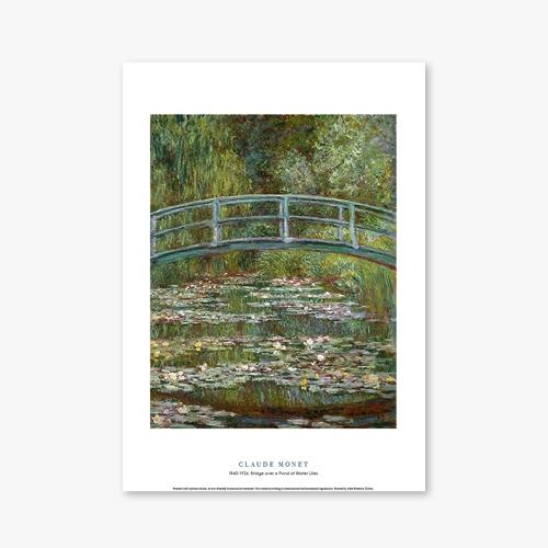 [명화포스터] Bridge over a Pond of Water Lilies - 클로드 모네 006