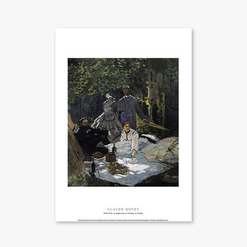 [명화포스터] Le dejeuner sur lherbe, a Chailly - 클로드 모네 010