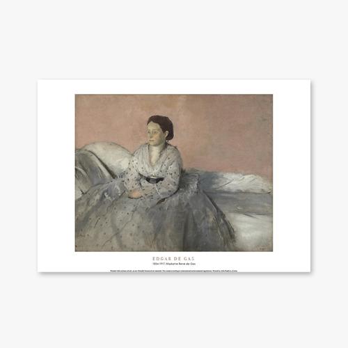 [명화포스터] Madame Rene de Gas - 에드가 드가 013
