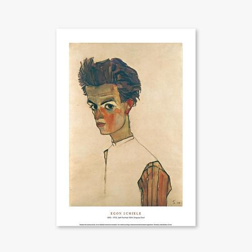 [명화포스터] Self-Portrait With Striped Shirt - 에곤 실레 025