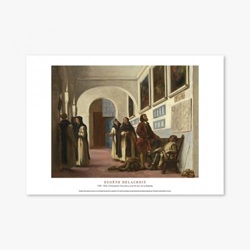 [명화포스터] Christopher Columbus and His Son at La Rabida - 들라크루아 002