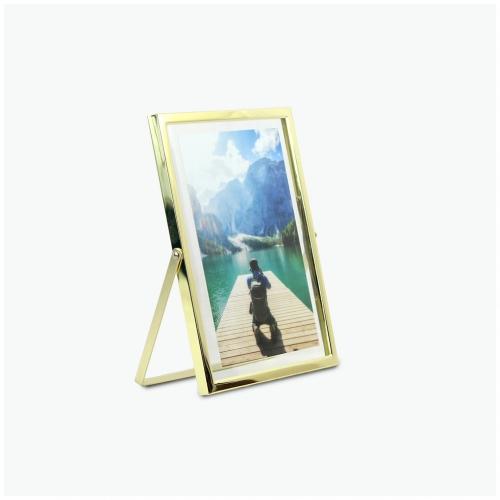 탁상 메탈 프레임 사진 액자 - 골드 (gold) - 6x8