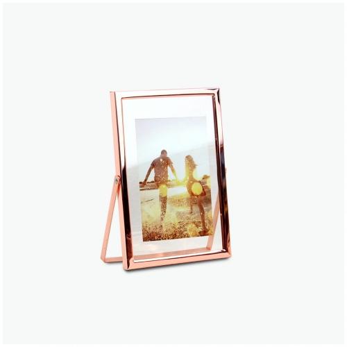 탁상 메탈 프레임 사진 액자 - 로즈골드 (rosegold) - 5x7