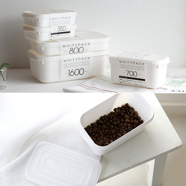 화이트 냉장고 밀폐용기(4size)/보관용기 저장용기 냉장고정리 밥보관용기 소분 [JK]