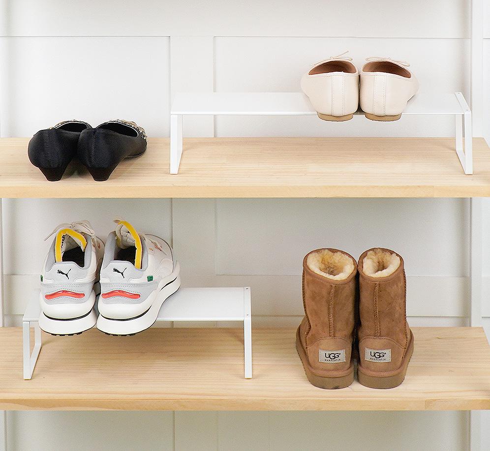 철제 사이즈 조절 신발 정리대 수납선반 (최대60cm)