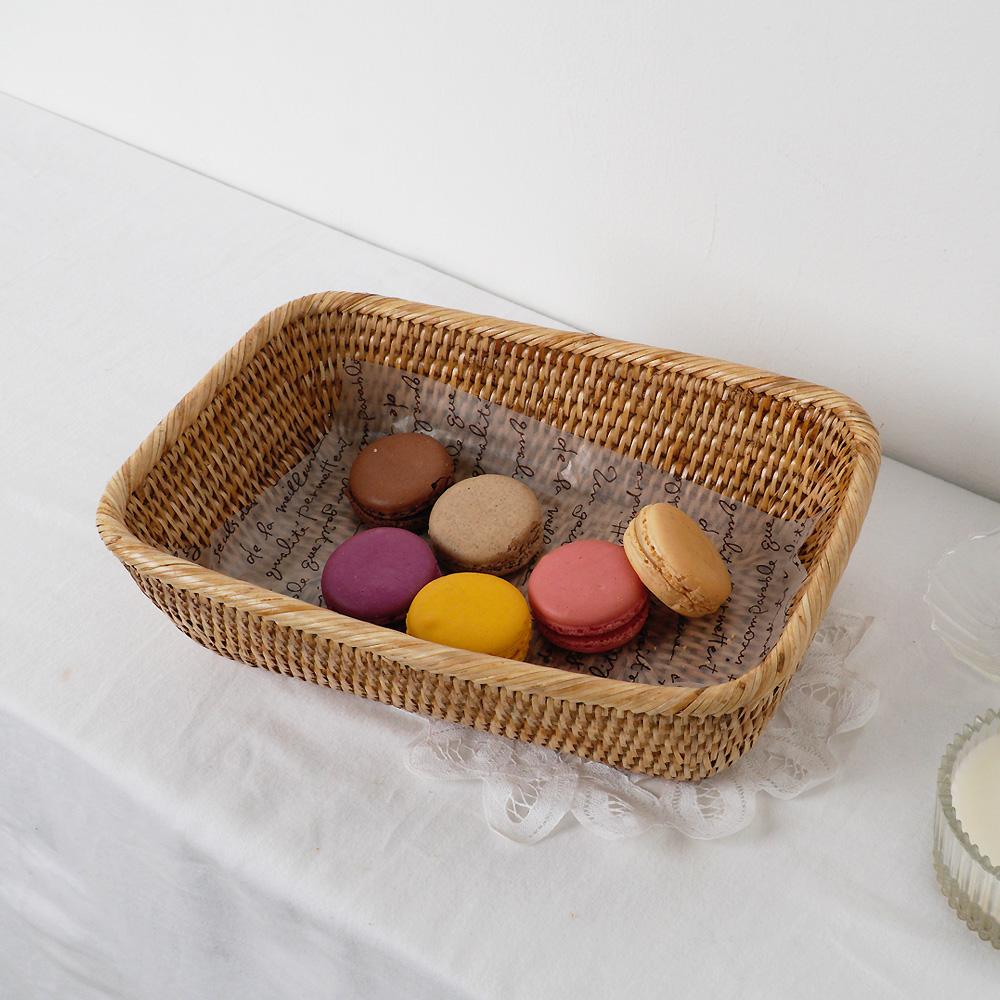 라탄 둥근 사각 바구니 주방소품 디저트 빵 과일 바스켓