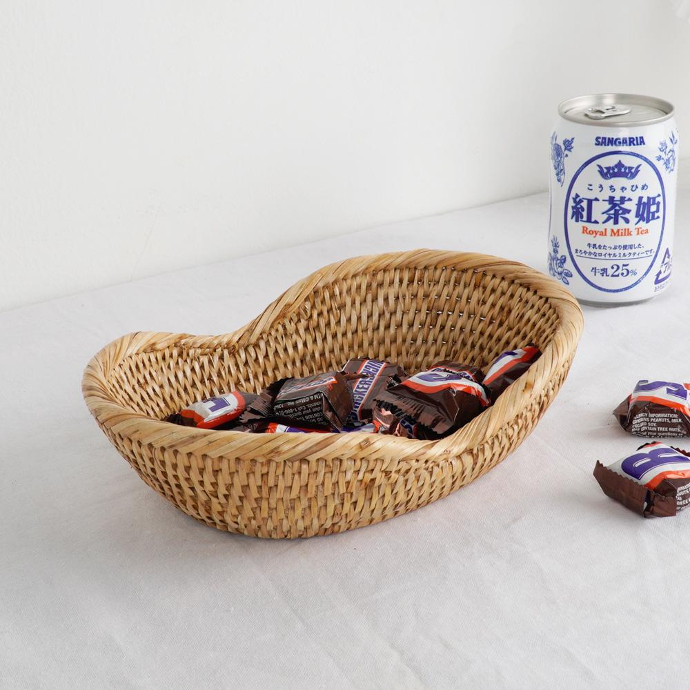 라탄 미니 땅콩 사탕 바구니 주방소품