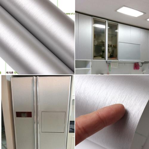[사은품헤라증정]고급 메탈필름지/메탈시트지 [IM912-2] 헤어라인 실버펄