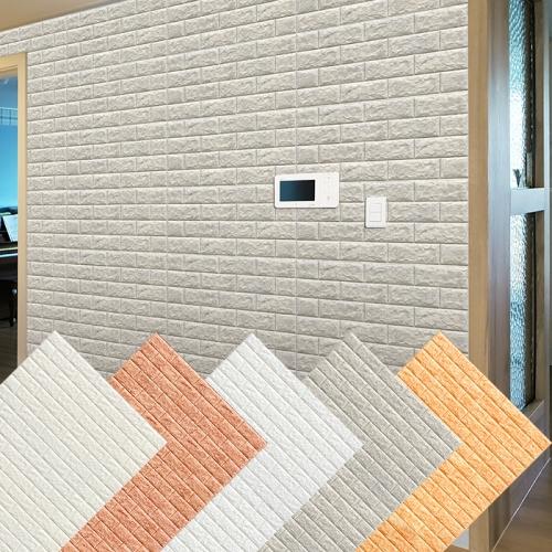 폼블럭 시트지 패널 벽돌 단열 접착식