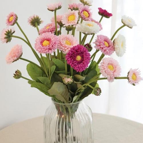 귀여운 들꽃 느낌의 잉글리시 데이지 - 인테리어조화 실크플라워