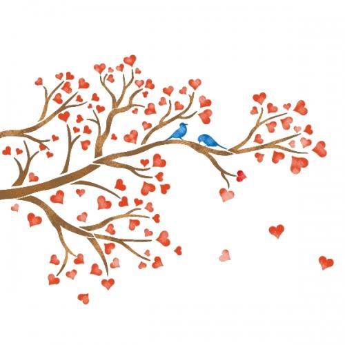 스텐실 도안(ST-8005) 사랑나무