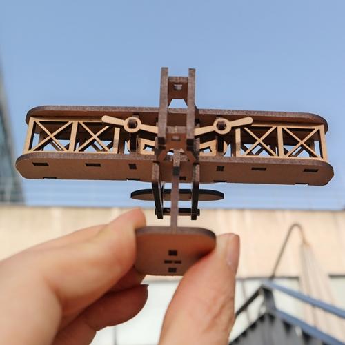 [ 모또 나무 미니어처] 라이트 형제 세계 최초의 비행기