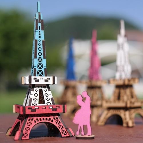 [ 모또 나무 미니어처] 세계 랜드마크 프랑스 파리 에펠탑