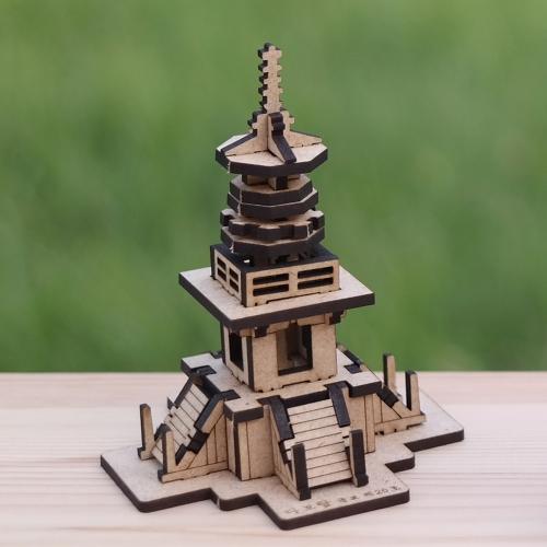 [ 모또 나무 미니어처] 한국사 다보탑 입체퍼즐