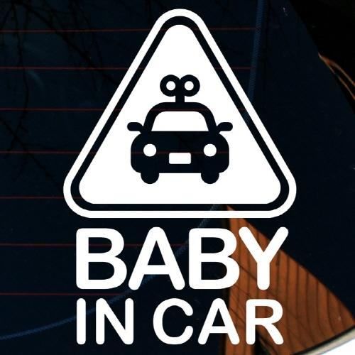 엠블렘 자동차 BABY IN CAR