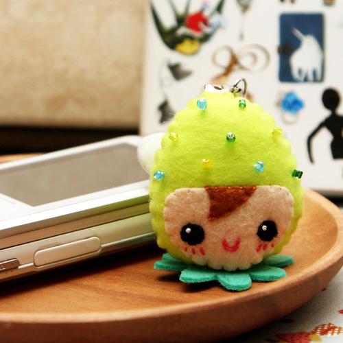 [DIY패키지] 파스텔딸기 휴대폰줄-연두 만들기