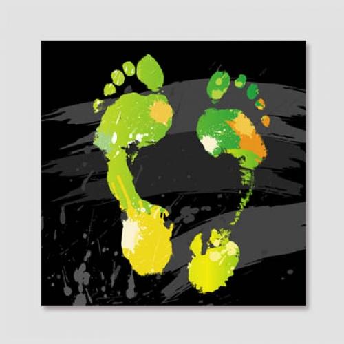 CAS234-컬러플 풋프린트 (Colorful footprint)