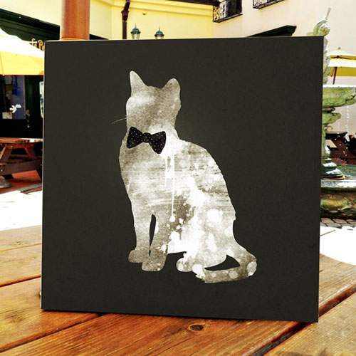CAS351 젠틀 흰색 고양이 캔버스 인테리어 액자