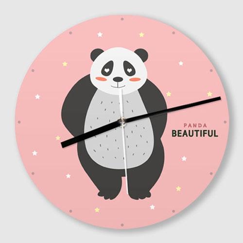 무소음 벽시계 / C003-귀여운 캐릭터-팬더곰-B