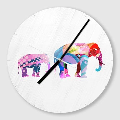 무소음 벽시계 / C039-엄마 코끼리와 아기 코끼리-B