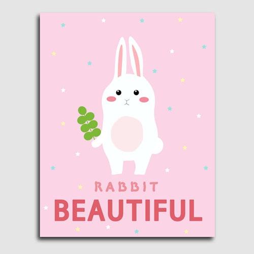 캔버스액자 / CAS453 북유럽스타일 토끼 북유럽풍 인테리어