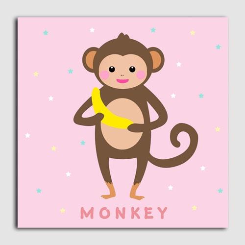 캔버스액자/CAS467 북유럽 스타일-원숭이 북유럽 인테리어