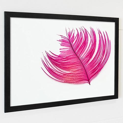 FA196 천상의 날개깃 4 [feather] -가로 프레임액자 북유럽풍액자